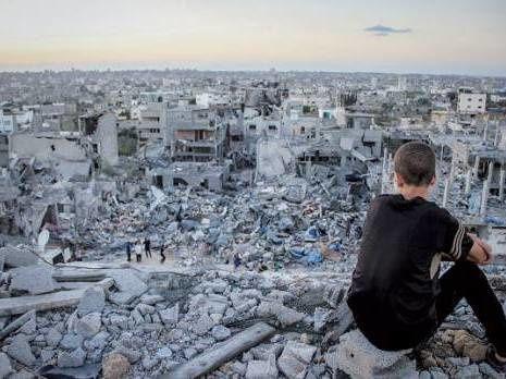 Gaza, une ville à l'état de ruine détruite par Israël