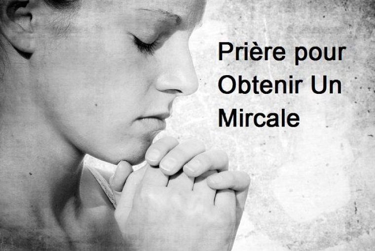 prière pour un miracle immédiat
