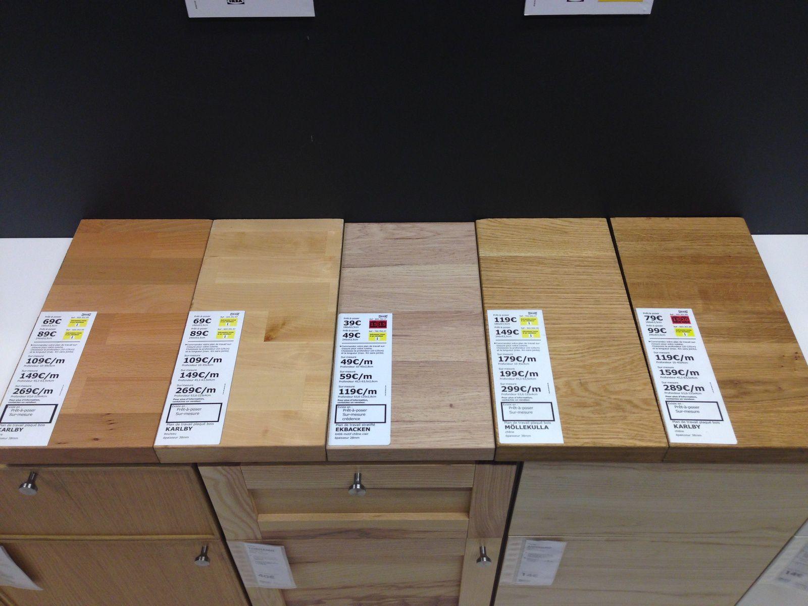 Comparaison Plan De Travauil Bois Ou Stratifié Cuisine Ikea