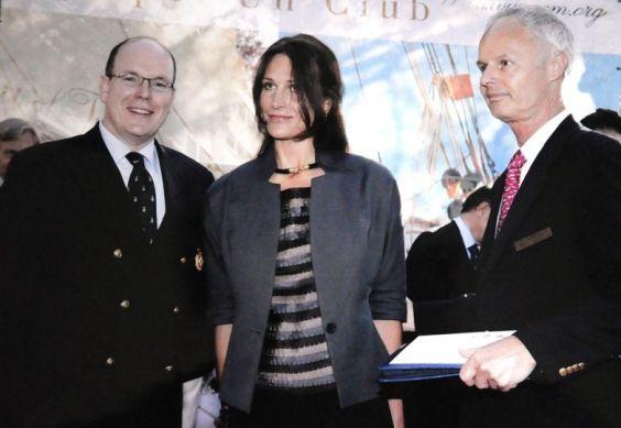 Les princes au Yacht Club de Monaco reçus par SAS Albert II.