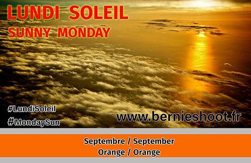 lundi soleil septembre orange