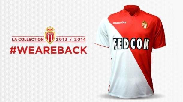 Le maillot 2013/2014 de l'AS Monaco
