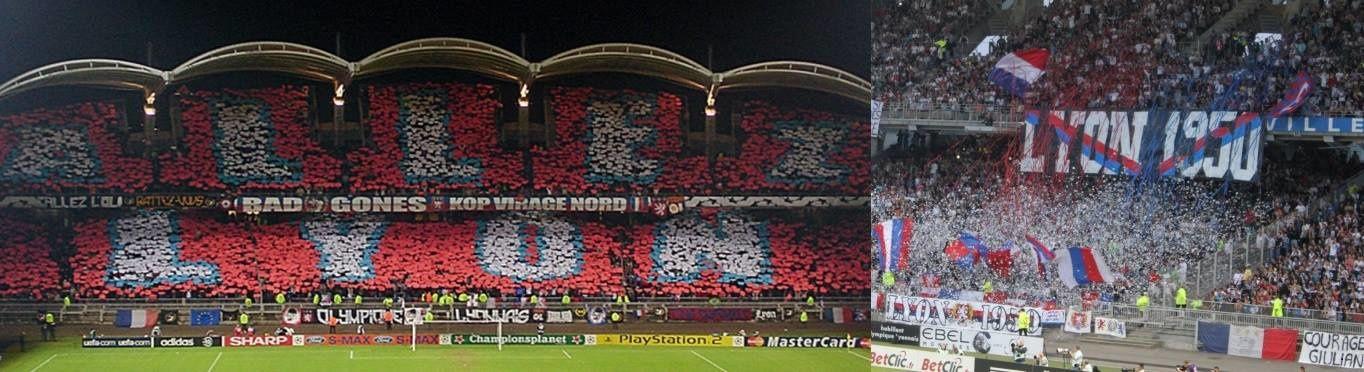 L'Olympique Lyonnais a de tout temps eu de nombreux groupes de supporters.