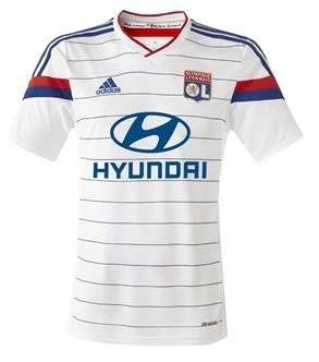 Le maillot de l'Olympique Lyonnais 2014/2015.