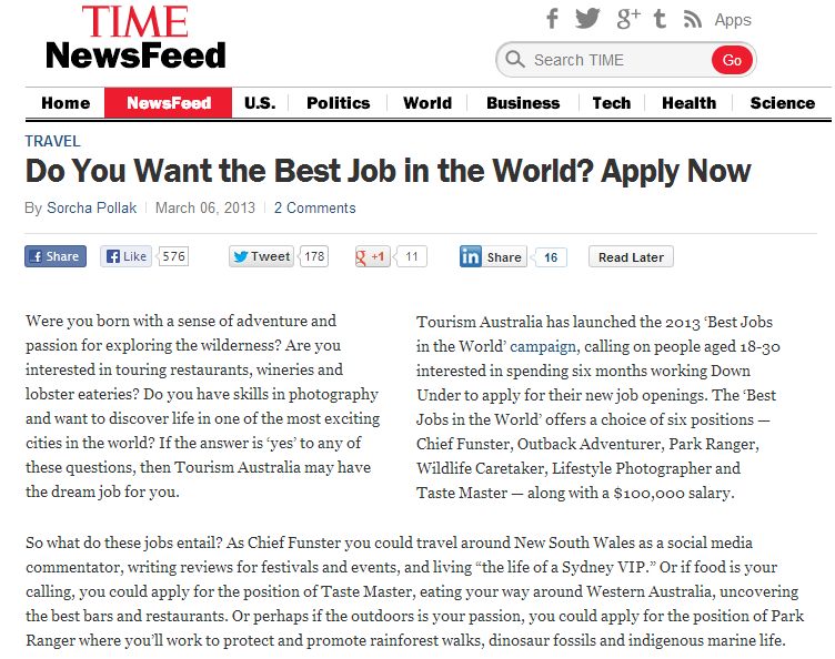 Chapter 2 - Best Jobs in the World