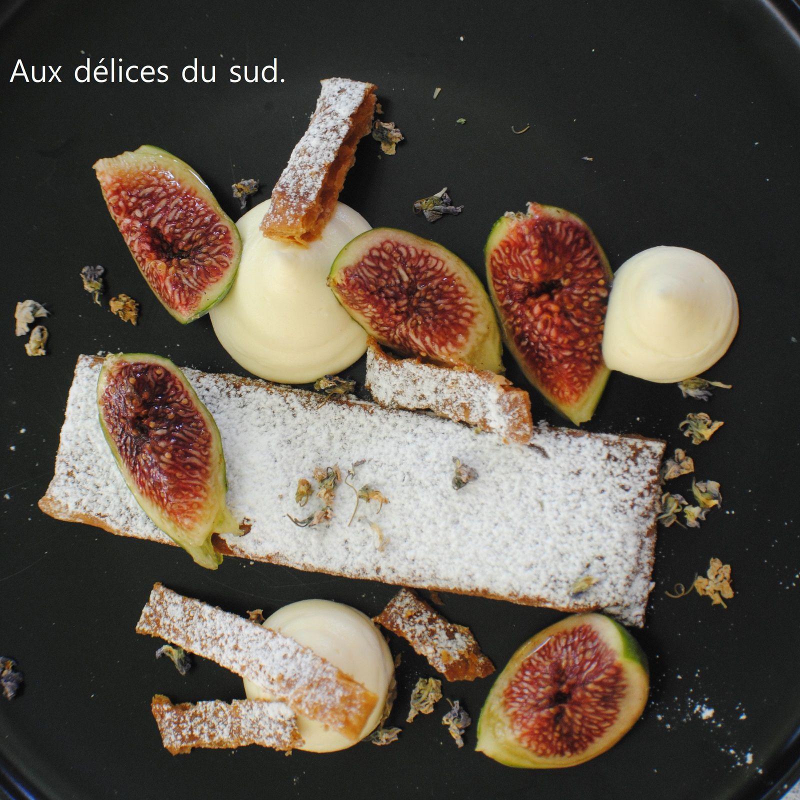 assiette millefeuille aux figues