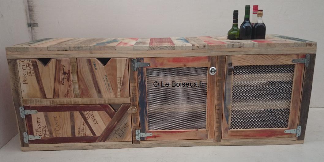 meuble bas bois recycle