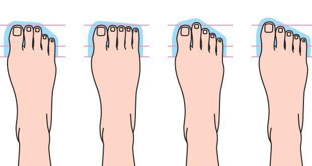 ce que la forme de vos orteils dit de