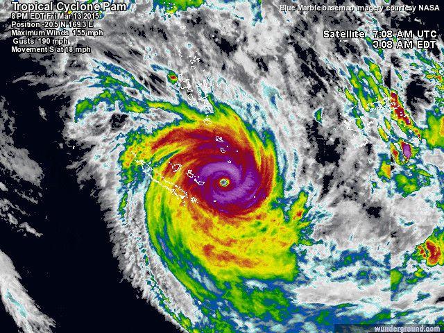 Super typhon Pam: l'archipel du Vanuatu dévasté. De nombreux morts