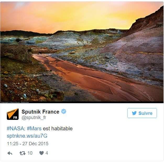 Exclusité: Mars serait habitable!