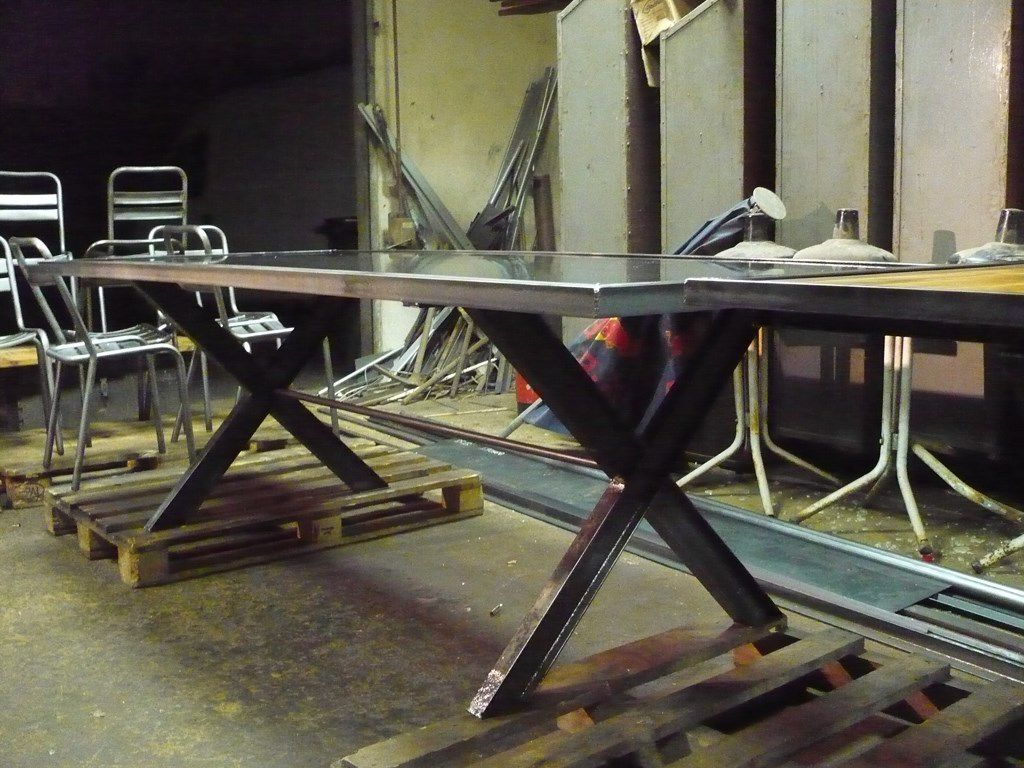 8 Grandes Tables Fer Amp Bois GEONANCY Design