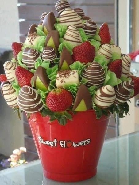 Bouquets De Fraises En Chocolat Ma Ptissire Bien Aime