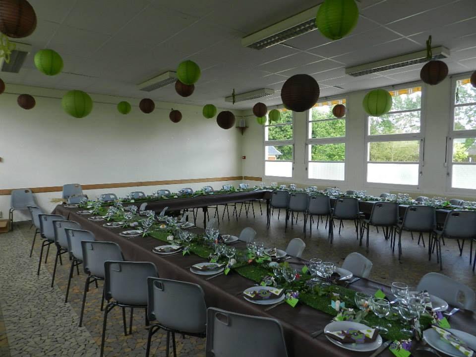 Communion Wendy Dcoration De Salle Vert Et Marron
