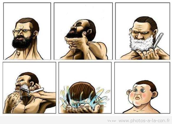 Le rasage dans la BD