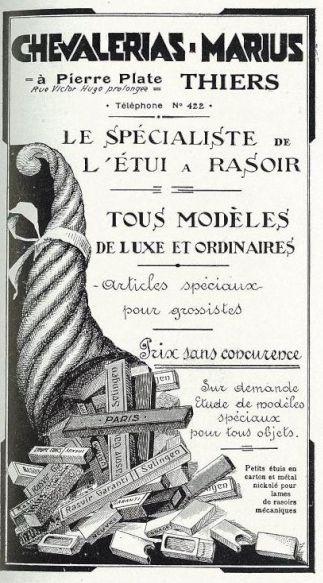 Publicité étuis de rasoir - 1933