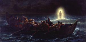 Jesús caminando sobre las aguas