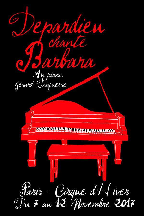 Gérard Depardieu chante Barbara - nouvelles dates au Cirque d'Hiver