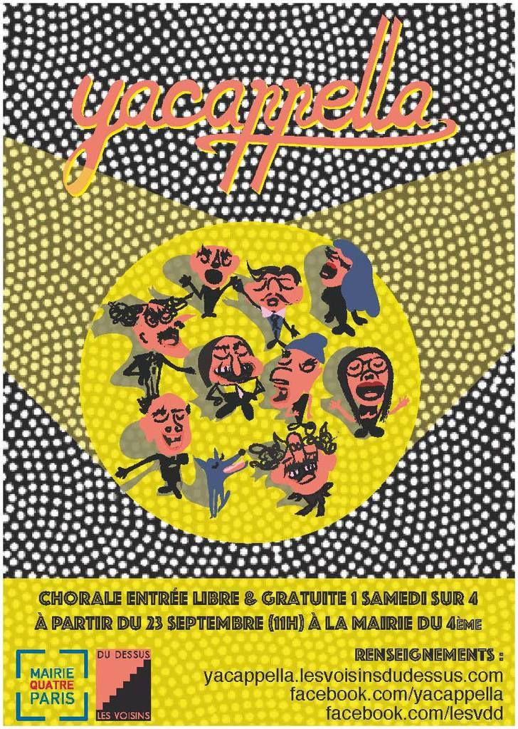 Le 18/11 rdv à Paris pour chanter sur le thème des Comédies Musicales ! (YACAPELLA)