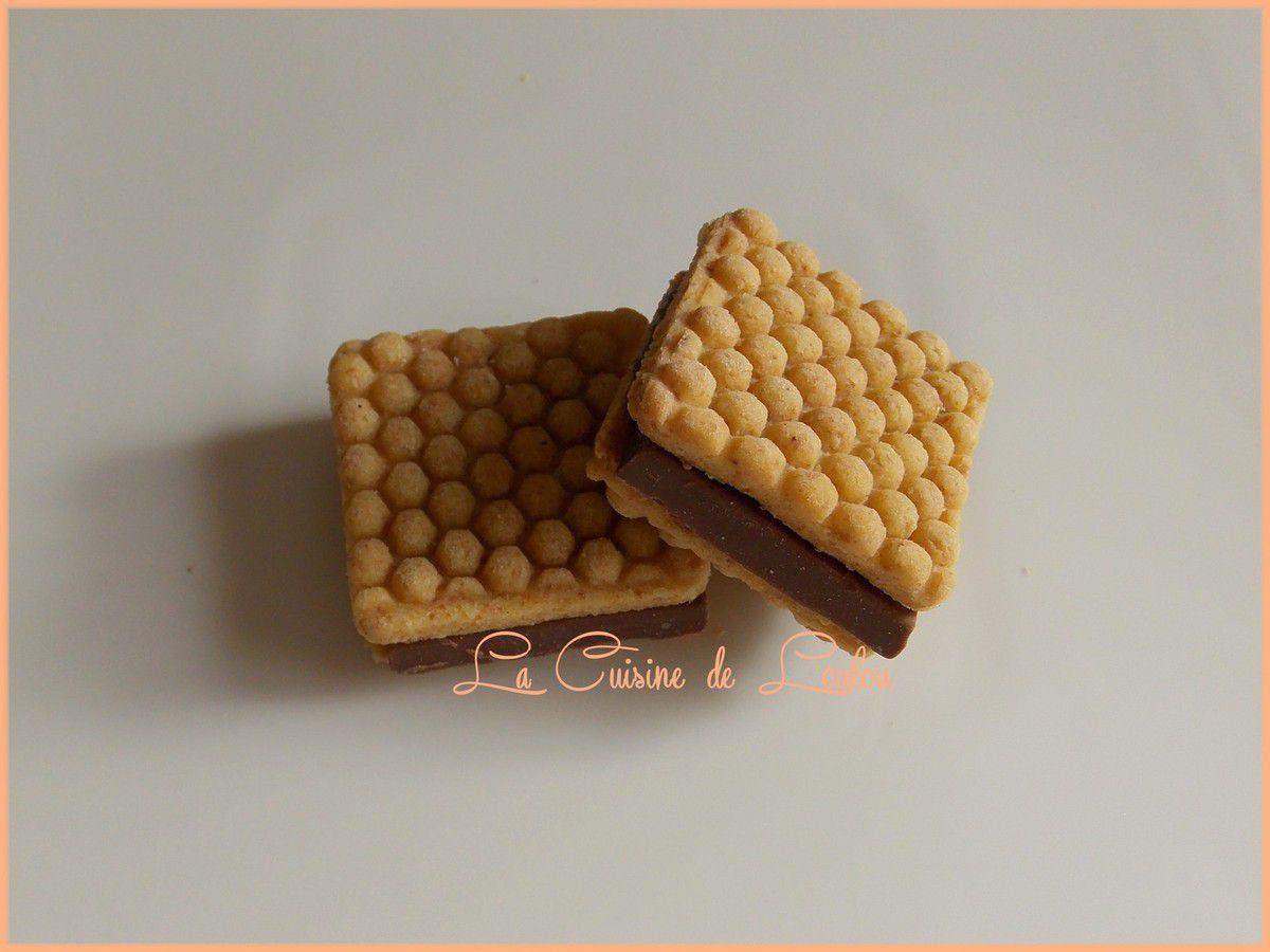 Biscuits ruche au chocolat