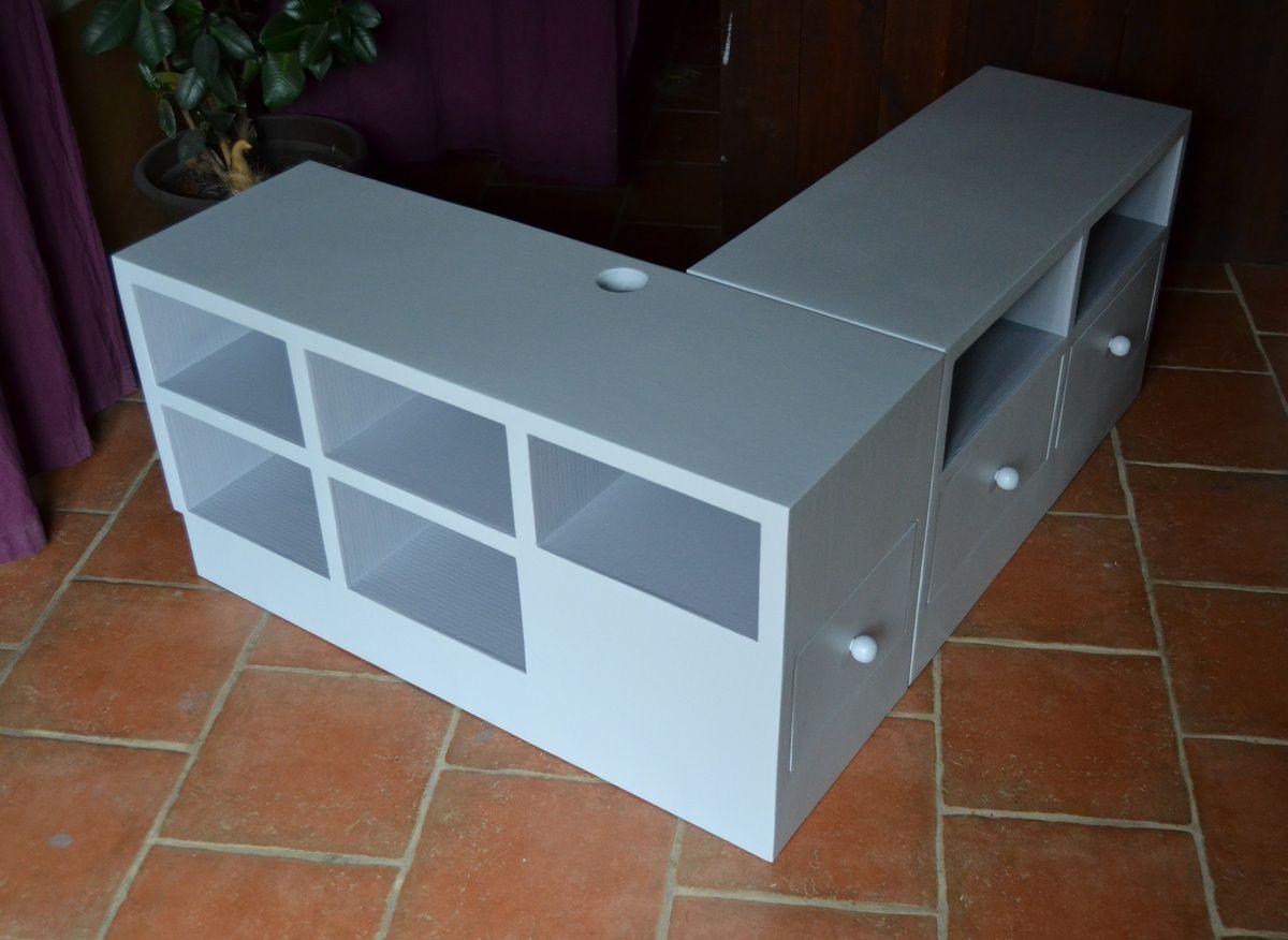 meuble tv angle sortant meubles en carton