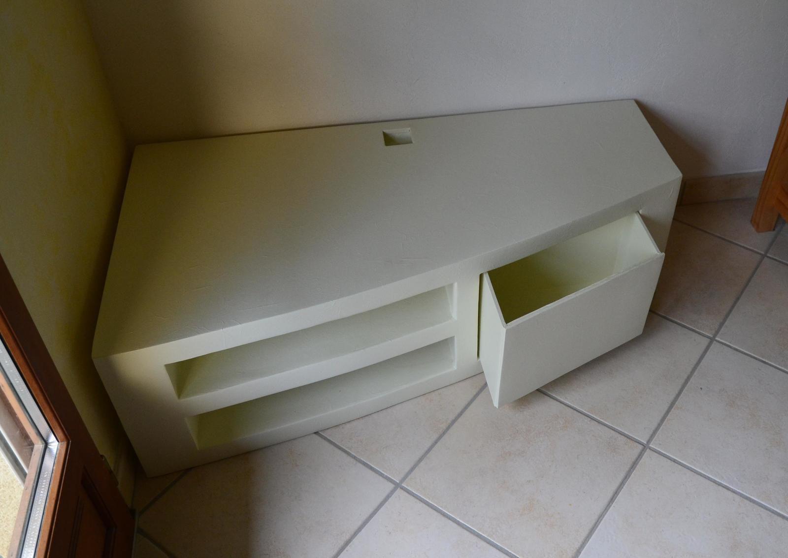 meuble television meubles en carton