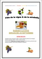 Fête de la vigne et de la mirabelle à Barisey La Côte
