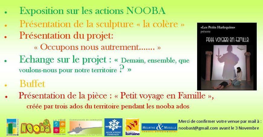 Forum Nooba le 6 Novembre 2015 à Ochey