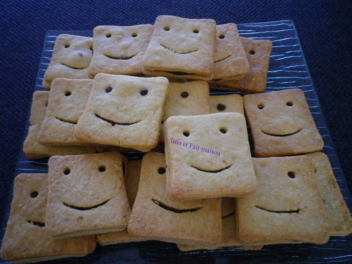 Biscuits fourrés au chocolat, ou mes BN faits maison