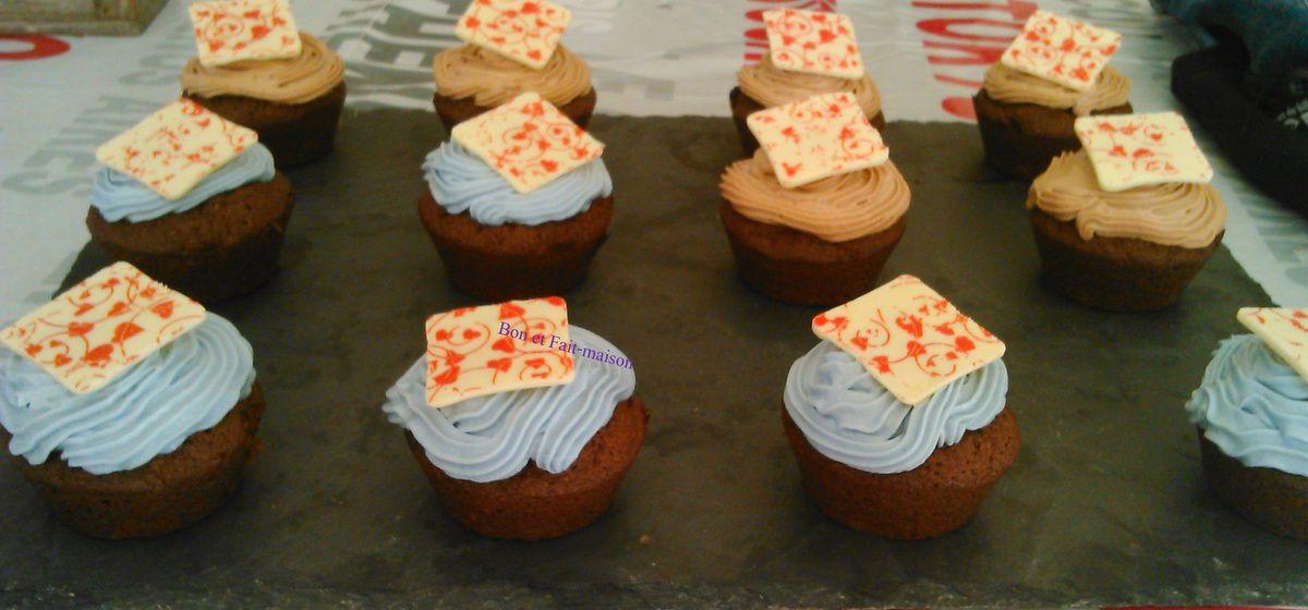 Cupcakes chocolat violette