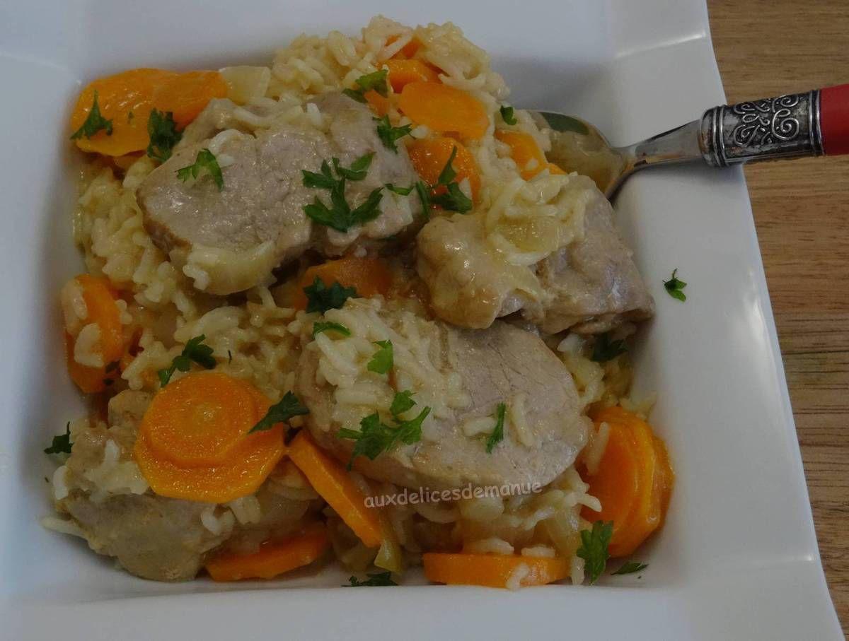 filet mignon de porc au riz carottes a