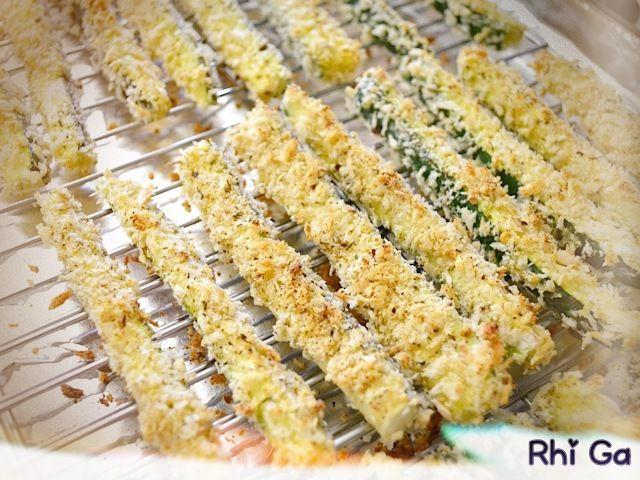 Des frites de courgettes