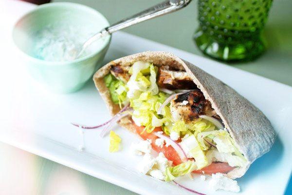 Un Sandwich Kebab version light
