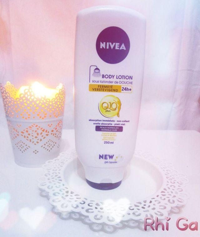 J'ai testé le lait corps sous la douche raffermissant Q10 de Nivea