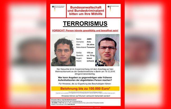 Attentat à Berlin = 100.000 euros pour Anis Amri, l'Europe à l'heure du «Far West» américain