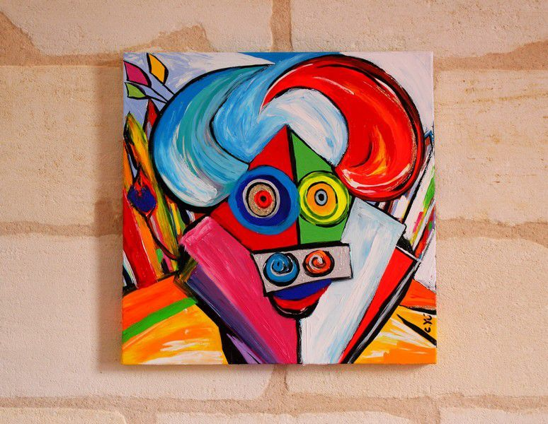 60 cm peinture taureau c yu