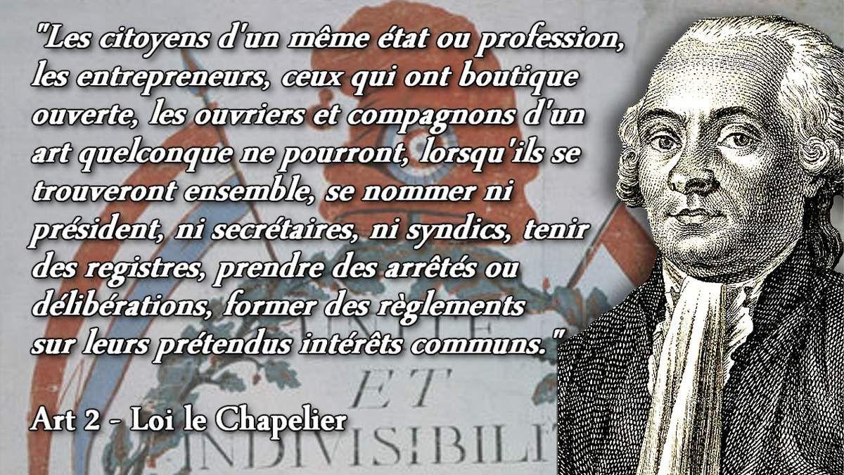 """Résultat de recherche d'images pour """"loi le chapelier"""""""
