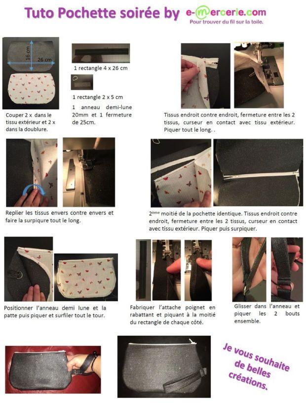 Une pochette qui s'attache au poignet pour avoir les mains libres et tout à portée de mains!