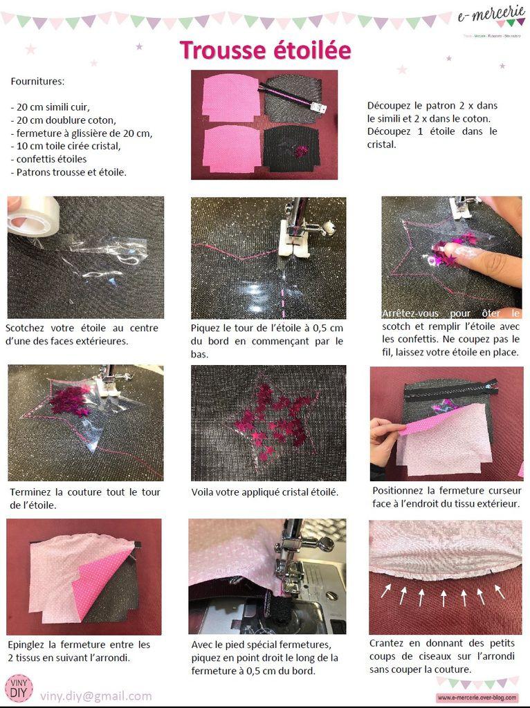 Trousse étoilée - Tuto Couture DIY