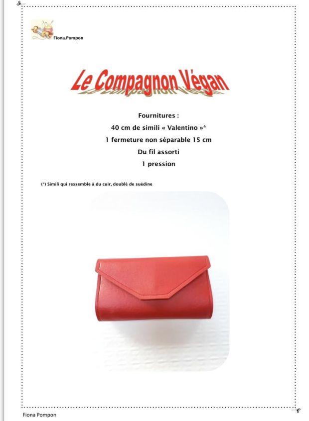Le Compagnon Végan de Fiona - Tutoriel Couture