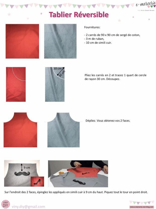 Tablier Réversible - Tuto couture DIY