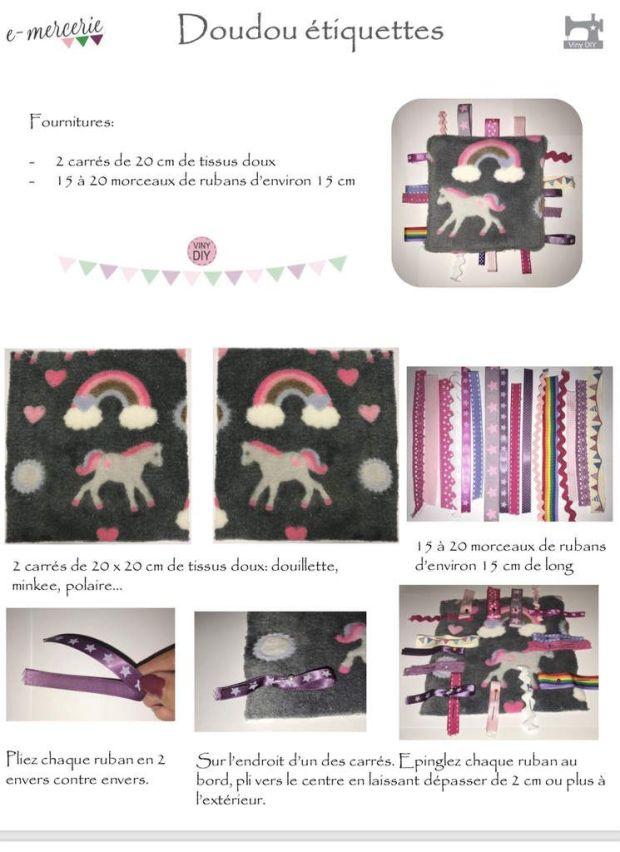 Doudou Etiquettes - Tutoriel Couture DIY