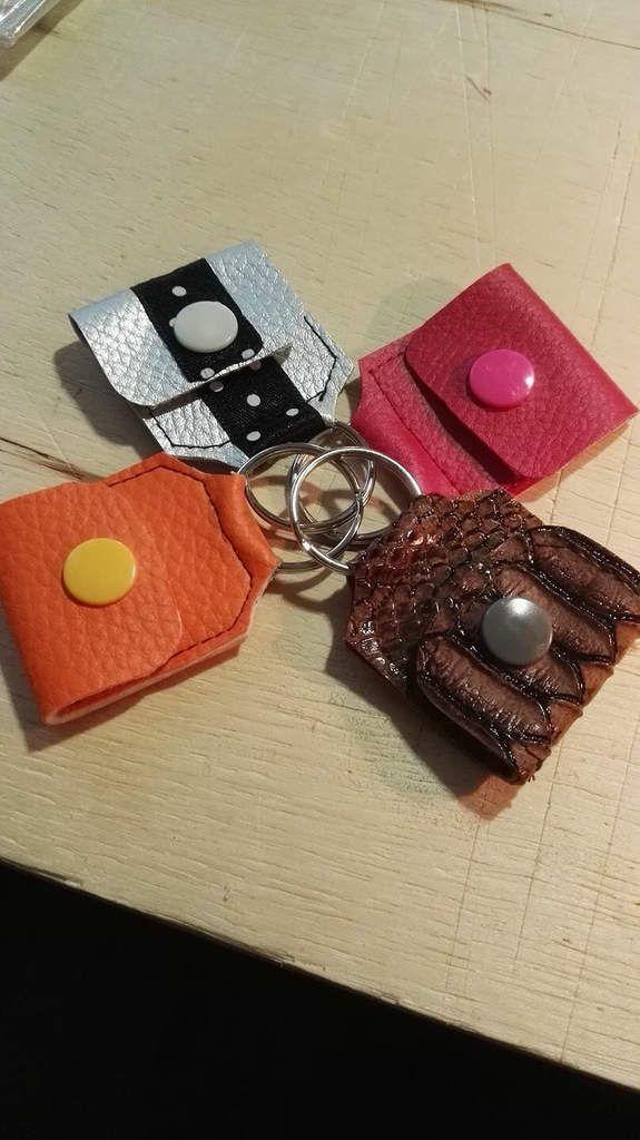 Porte-Clés Porte Jeton - Tuto Patron Couture DIY - Fichier SCANNCUT - CAMEO