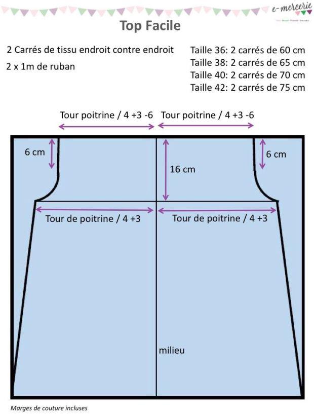 Top facile - Tuto Couture PDF et vidéo