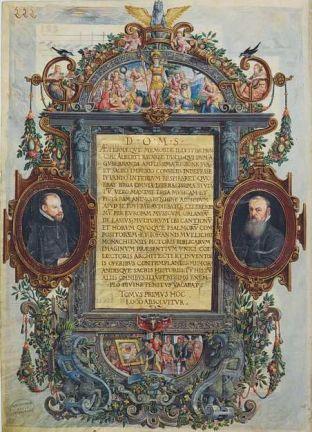 Portraits d' Orlando di Lasso et de Hans Mielich, Mus. Ms. AI, folio 222. Droits réservés  BBS MDZ
