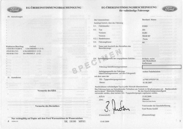 Obtenir un certificat de conformité délivré par le constructeur ...