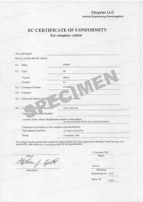 Qu'est-ce que le Certificat de Conformité?