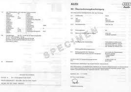 VotreCertificat de Conformité Audi