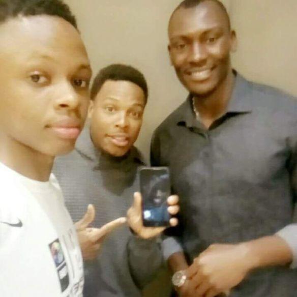 Avec Kyle Lowry et Bismack Biyombo
