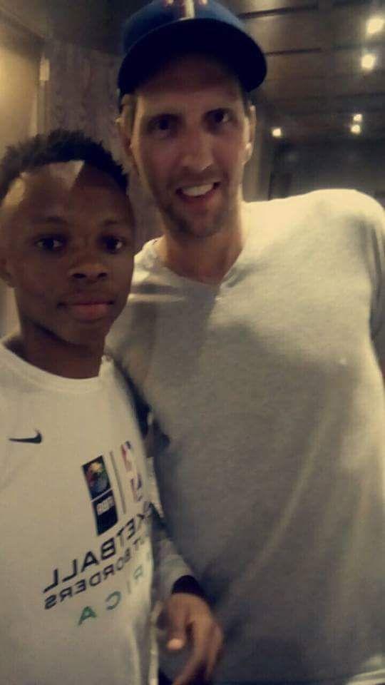 Avec Dirk Nowitzki