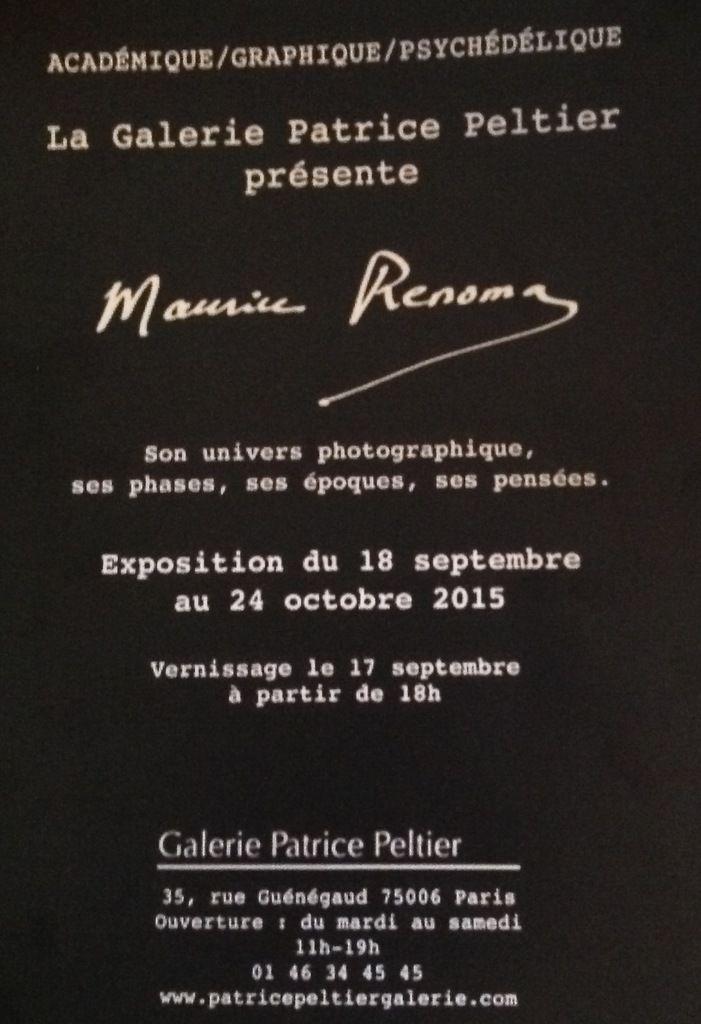 L'Exposition Maurice Renoma, la galerie Patrice Peltier